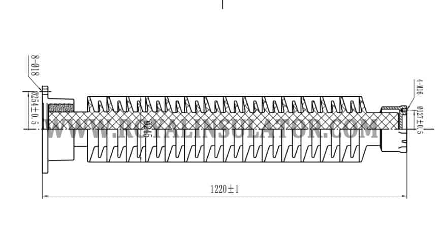 123kV Post Insulator drawing2