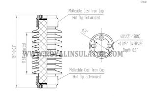 TR210 Solid Core Post Insualtor drawing2